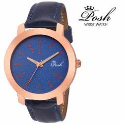 Men''s Round Dial Wrist Watch