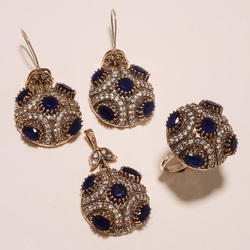 Turkish Designer Ring Pendant Set