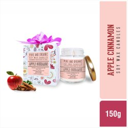 Pure & Organic Soy Wax Candles - Apple Cinnamon