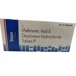 Mefenamic Acid And Dicyclomine Hydrochloride Tablets Ip