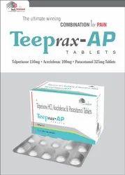 Aceclofenac 100mg, Paracetamol 325mg,Tolperisone 150mg