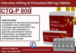 Citicoline And Piracetam Tablets