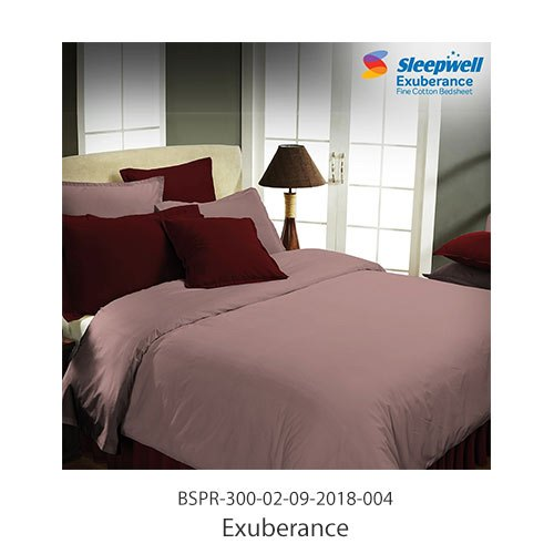 Sleepwell Exuberance Fine Cotton Bed Sheet With Pillow Cover