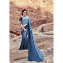 Casual Wear Ladies Grey Saree