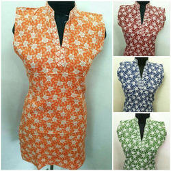 Womens Printed Cotton Kurti