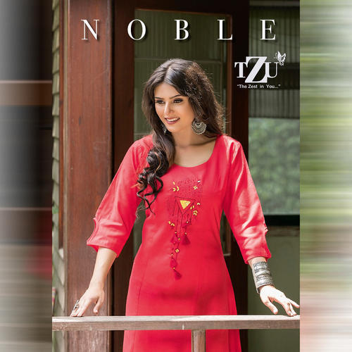 d6e4cf96fd Tzu Nobel Cotton Stretchable Soft Kurti, Size: L, Rs 5166 /set | ID ...