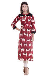 Beautiful Cotton Animal Print Kurti