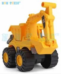 Yellow Plastic Non Toxic Unbreakable JCB Dig & Dump Construction Toy, for Personal