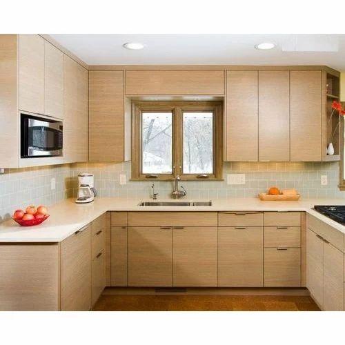 Kitchen Furniture Brown: Brown Kitchen Cabinet, Rs 10000 /running Feet, Featherrok