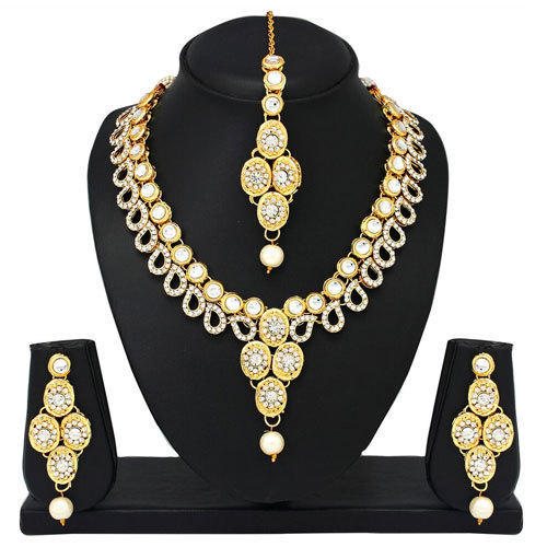 Royal Gold Diamond Necklace Set at Rs 399 set Malad West Mumbai