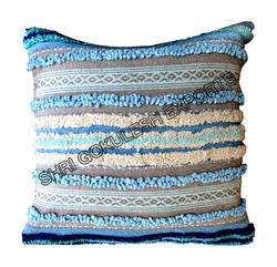 Sge-cc-157 Handwoven Cotton Handloom Pillow Covers, For Home, Hotel