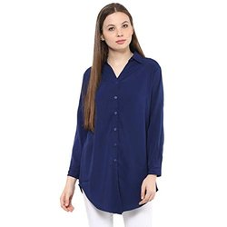 Cuff and Tab on Sleeves Crepe Shirt
