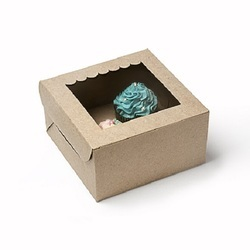 2K Two Cupcake Box with Window & Insert