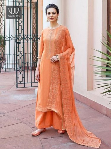 Fancy Ladies Soft Silk Unstitched Suits