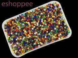 Eshoppee 1kg  Multi Color Seed Beads 8/0