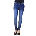 Ladies Blue Plain Ripped Denim Jeans, Size: 24-34