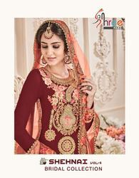 Shree Fabs Shehnai Bridal Vol 6 Georgette Plazzo Style Pakistani Salwar Kameez