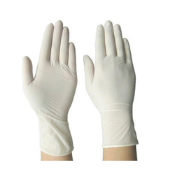 White Disposable Latex Glove
