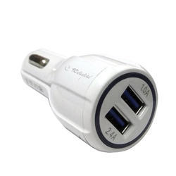 Car Charger 2.4amp 2USB Port With Cable (C-34)