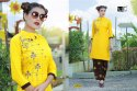 Bar-Vf Rayon Dyed With Work Designer Kurti With Palazzo Collection