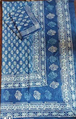 Indigo Block Printing Bedsheet