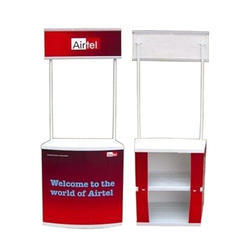 White Abs Pvc Structure, Abs Pbc Promotional Advertisement Table, Size: 2.5'x3'