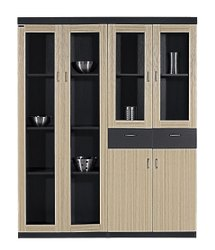 Wooden Glass Door Storage