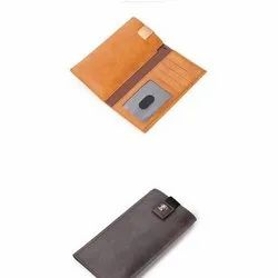Brown Plain Apple iPhone Leather Mobile Pouch