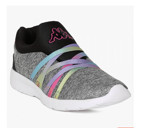 Kappa Knitted Texture Slip Ons Shoes at