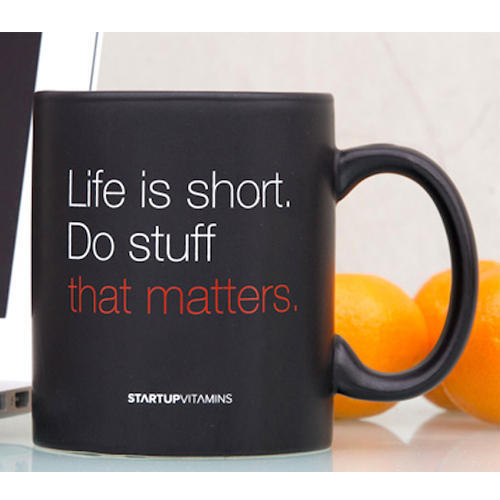 Ceramic Printed Customized Quotes On The Mug
