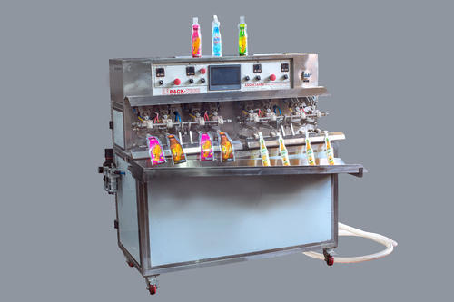 Pack Tech 8 Nozzle Shape Pouch Filling Machine, Capacity: 1500 To 2000 Pouch/hour