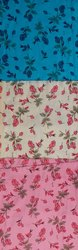 Textile Flower Print Cotton Fabric