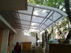 Polycarbonate Sunshade Roofing Structure