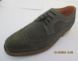 Men's Leather Shoes Suede Spring / Fall Comfort Oxfords Slip Resistant Black / Brown / Blue / Party