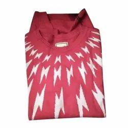 Cotton, Woolen Round Neck Mens Full Sleeve Knitted T Shirt