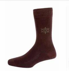 Men Formal Socks Full Leg Brown