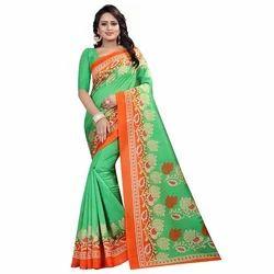 Fancy Printed Art Silk Saree