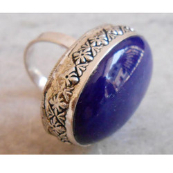 Gemstone Silver Plated Ring