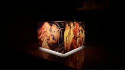 Black Personalized Table Photo Lamp