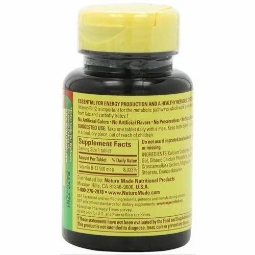 Nature Made Vitamin B-12 500 Mcg Tablets
