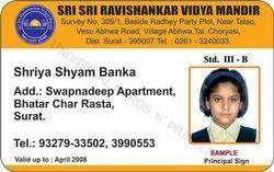 School Pvc ID Card