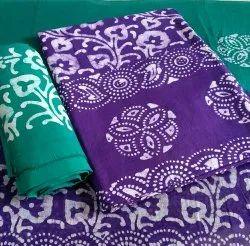 Cotton Printed Wax Batik Print Dress Material