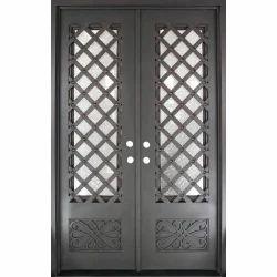 Grey Polished Double Iron Door