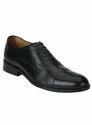 Raymond Black Leather Shoes, Size: 6-11