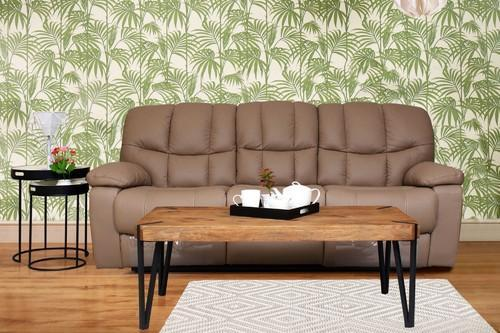 Exotica Taupe Faux Leather Recliner Sofa At Rs 844490