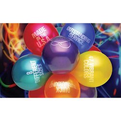 Multi Color Rubber Printed Balloons