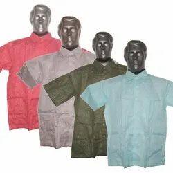 Plain Collar Neck Cotton Half Sleeve Shirts