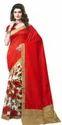 Multicolored Floral Printed Bhagalpuri Art Silk Saree