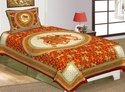Gajraj Print Cotton Single Bed Sheet