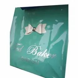 Green Plastic Printed Carry Bags